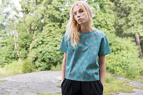 Alina Piu, Didi shirt Bouquet Print Blue