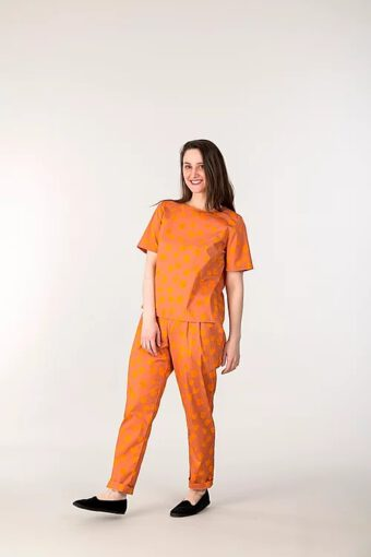 Alina Piu, Didi shirt Bouquent Print Orange