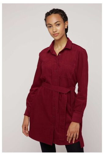 People Tree franca-corduroy-shirt-dress-in-red-7133ea493a73