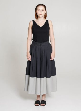 Tauko Panel maxi pants coal