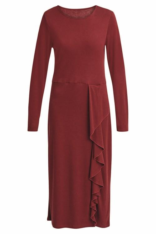 People Tree burgundy-alona-dress