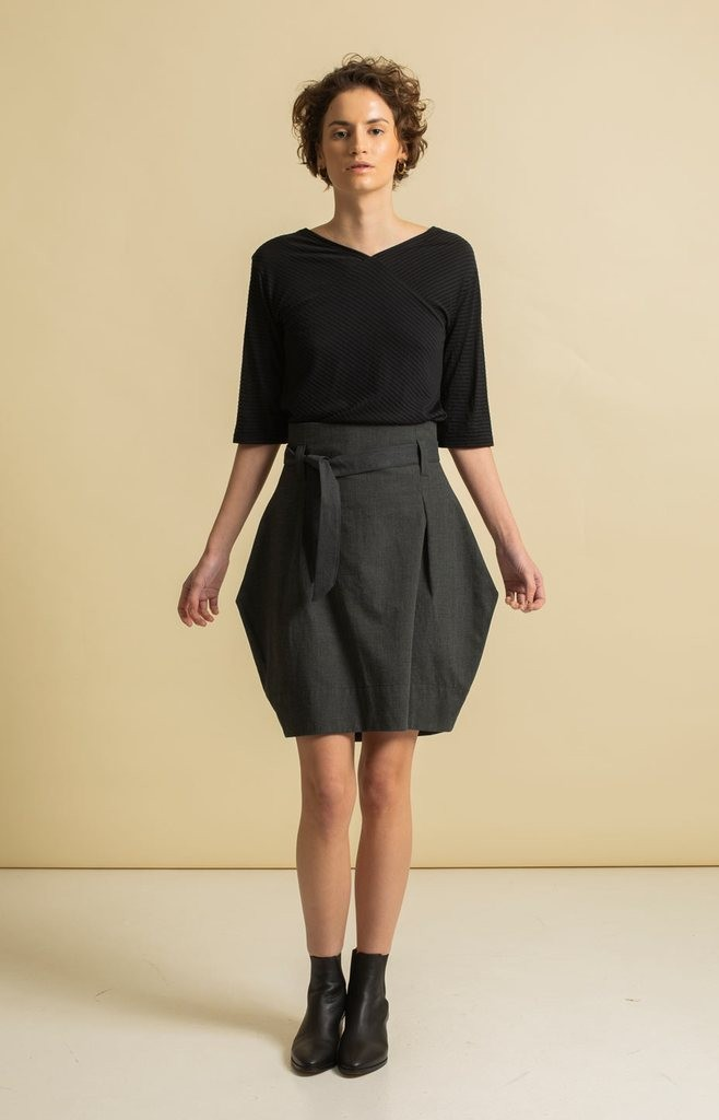 Tauko radalla-skirt-grey