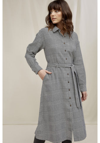 People Tree Asta checked shirt dress