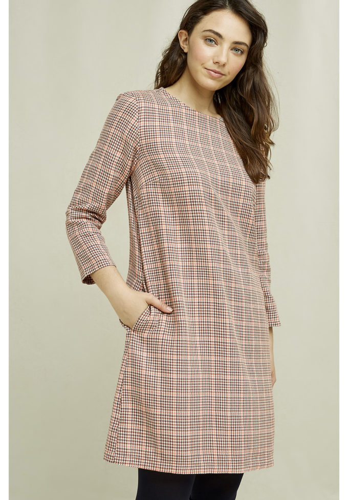 People Tree Erica houndstooth dress