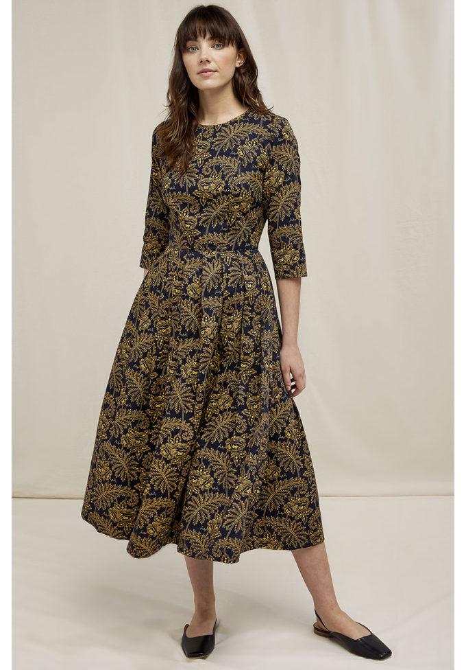 People Tree V&A Rosa print dress