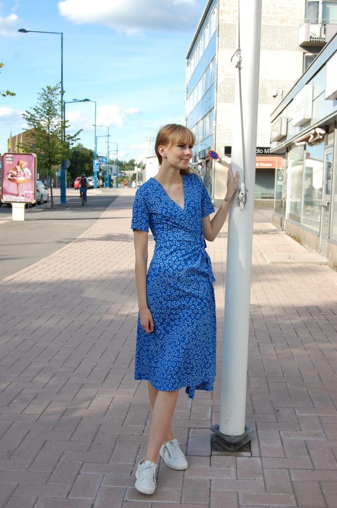 People Tree Ria Butterfly Wrap dress,S