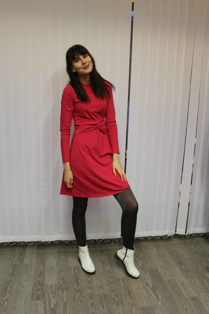 People Tree Rosalyn dress, pink, S