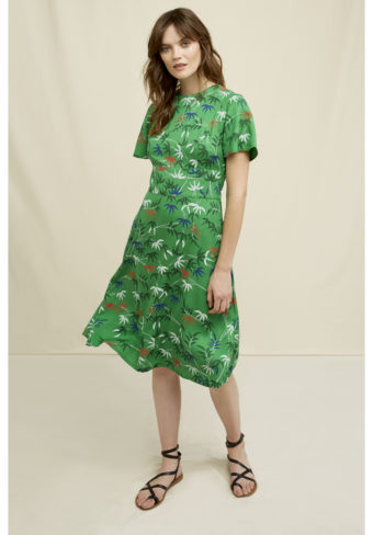 People Tree V&A Bamboo print Obi dress, S