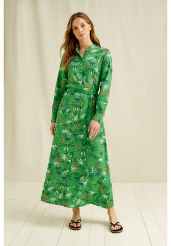 Peope Tree V&A Bamboo print shirt dress,S