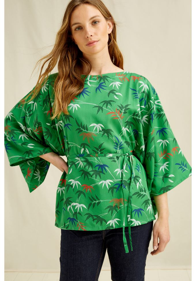 People Tree V&A bamboo print top,S