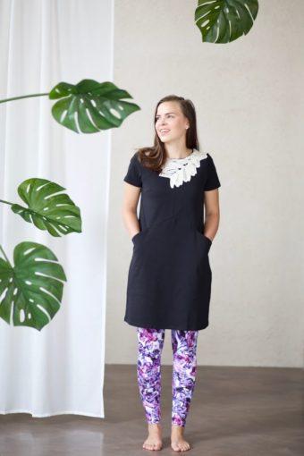 Lumoan 207-Iris mekko, musta, XL
