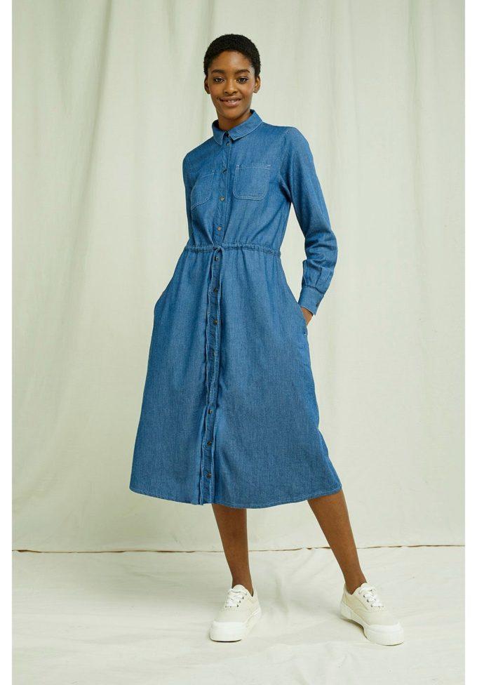 People Tree, Annie Denim Dress, XL