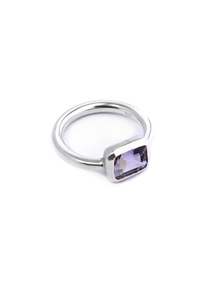 People Tree, amethyst-rectangle-ring